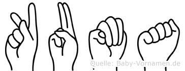 Kuma in Fingersprache für Gehörlose