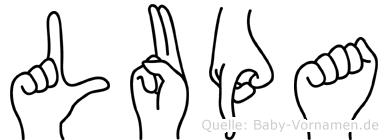Lupa in Fingersprache für Gehörlose