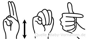 Ümüt im Fingeralphabet der Deutschen Gebärdensprache
