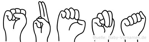 Suena in Fingersprache für Gehörlose