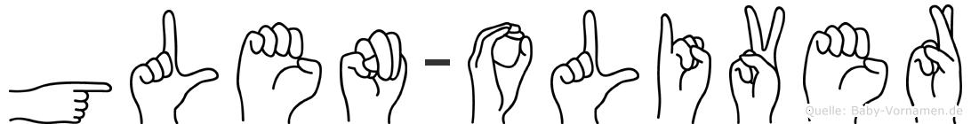 Glen-Oliver im Fingeralphabet der Deutschen Gebärdensprache