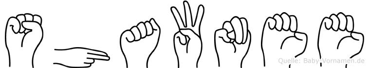 Shawnee in Fingersprache für Gehörlose