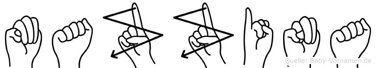 Mazzina in Fingersprache für Gehörlose