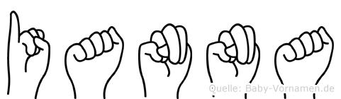 Ianna im Fingeralphabet der Deutschen Gebärdensprache