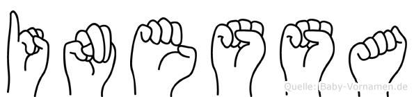 Inessa im Fingeralphabet der Deutschen Gebärdensprache