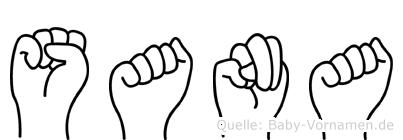 Sana im Fingeralphabet der Deutschen Gebärdensprache
