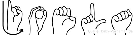 Joela in Fingersprache für Gehörlose