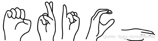 Erich im Fingeralphabet der Deutschen Gebärdensprache