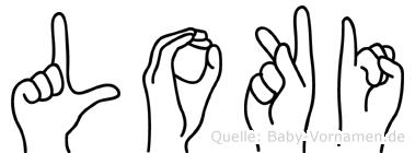 Loki in Fingersprache für Gehörlose