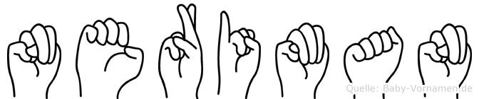 Neriman im Fingeralphabet der Deutschen Gebärdensprache