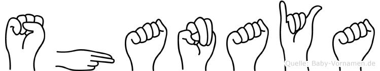 Shanaya in Fingersprache für Gehörlose