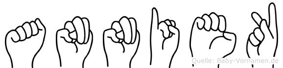 Anniek in Fingersprache für Gehörlose
