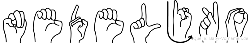 Nedeljko in Fingersprache für Gehörlose