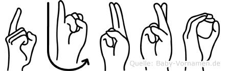 Djuro in Fingersprache für Gehörlose
