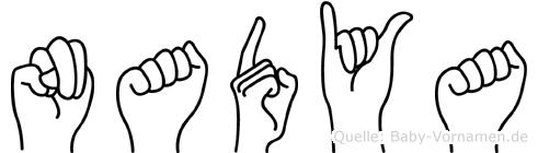 Nadya in Fingersprache für Gehörlose