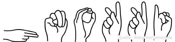 Hnokki in Fingersprache für Gehörlose