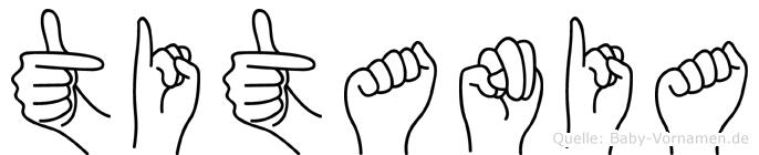 Titania in Fingersprache für Gehörlose
