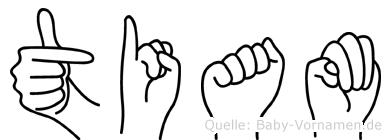 Tiam im Fingeralphabet der Deutschen Gebärdensprache