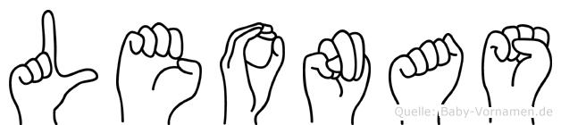 Leonas in Fingersprache für Gehörlose