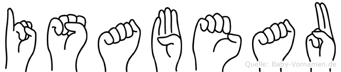 Isabeau in Fingersprache für Gehörlose