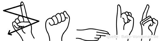 Zahid im Fingeralphabet der Deutschen Gebärdensprache