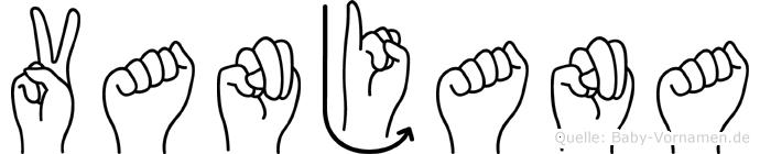 Vanjana im Fingeralphabet der Deutschen Gebärdensprache
