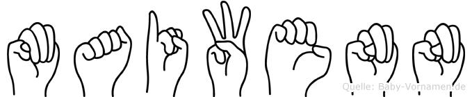 Maiwenn in Fingersprache für Gehörlose