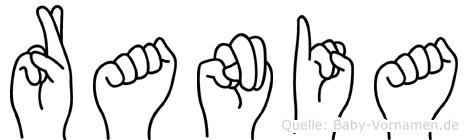 Rania in Fingersprache für Gehörlose