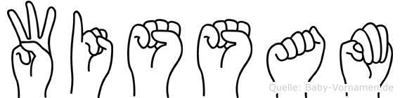 Wissam im Fingeralphabet der Deutschen Gebärdensprache