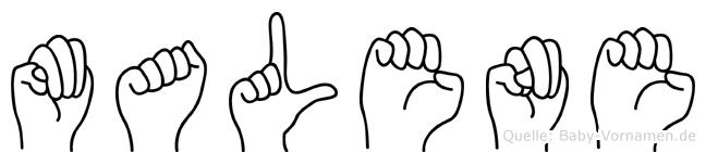 Malene in Fingersprache für Gehörlose