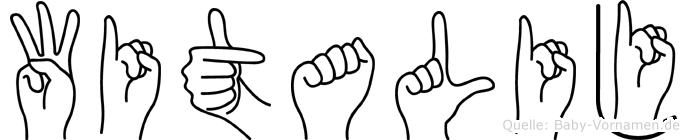 Witalij im Fingeralphabet der Deutschen Gebärdensprache
