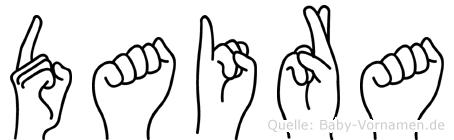 Daira in Fingersprache für Gehörlose