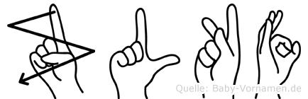 Zülküf im Fingeralphabet der Deutschen Gebärdensprache