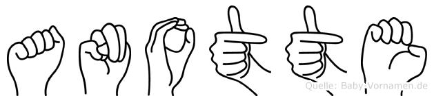 Anotte in Fingersprache für Gehörlose