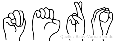 Nero im Fingeralphabet der Deutschen Gebärdensprache