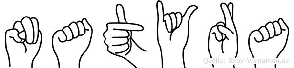 Natyra in Fingersprache für Gehörlose
