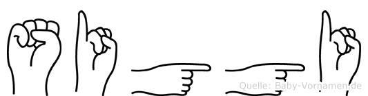 Siggi im Fingeralphabet der Deutschen Gebärdensprache