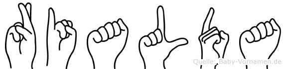 Rialda in Fingersprache für Gehörlose