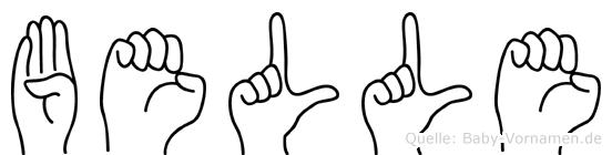 Belle in Fingersprache für Gehörlose