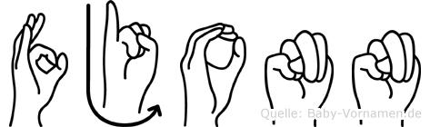 Fjonn im Fingeralphabet der Deutschen Gebärdensprache