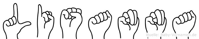 Lisanna im Fingeralphabet der Deutschen Gebärdensprache