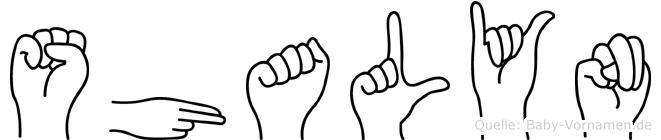 Shalyn im Fingeralphabet der Deutschen Gebärdensprache