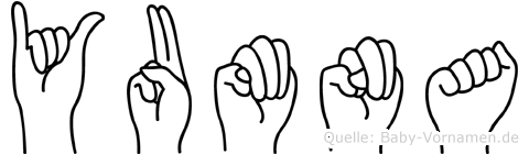 Yumna im Fingeralphabet der Deutschen Gebärdensprache