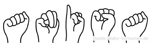 Anisa im Fingeralphabet der Deutschen Gebärdensprache