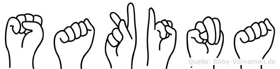 Sakina im Fingeralphabet der Deutschen Gebärdensprache