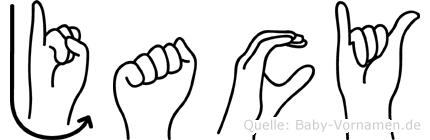Jacy im Fingeralphabet der Deutschen Gebärdensprache