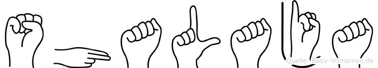 Shalaja in Fingersprache für Gehörlose