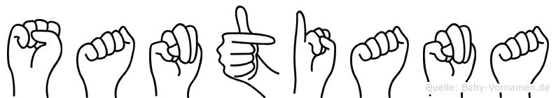 Santiana in Fingersprache für Gehörlose