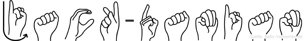 Jack-Damian im Fingeralphabet der Deutschen Gebärdensprache