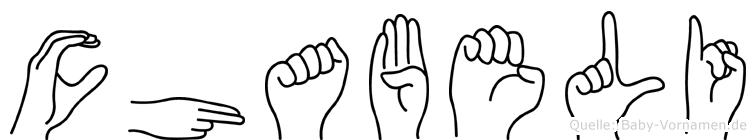 Chabeli in Fingersprache für Gehörlose